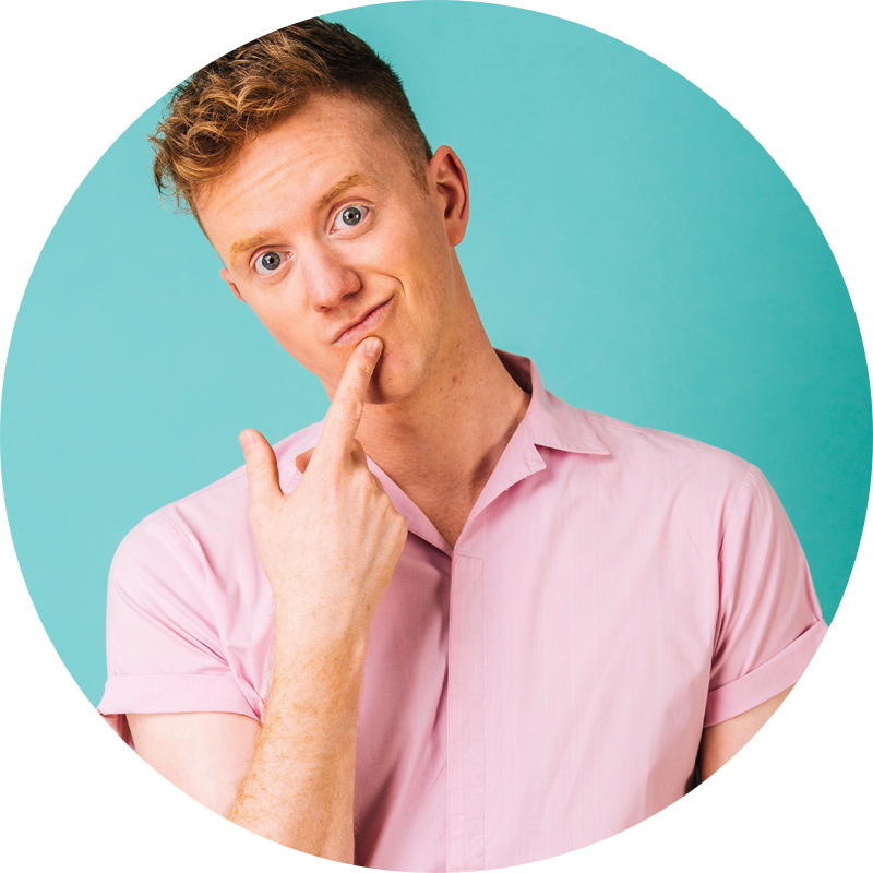 James Barr, podcaster and comedian from the UK's number 1 LGBTQ+ comedy podcast, A Gay and A Non Gay.