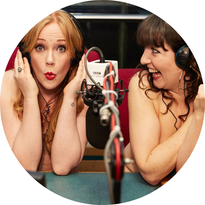 Kat Hartbourne and Jenny Eells, of The Naked Podcast, guest speakers at Pods Up North.