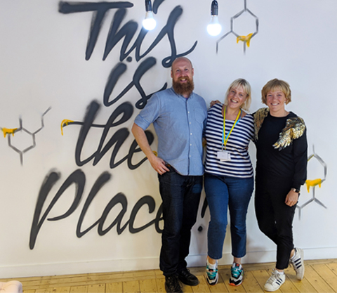 Ant McGinley, Vic Elizabeth Turnbull and Kate Cocker left to right, co-founders of Pods Up North.